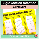 Rigid Motion Notation Transformations Card Sorting Activity Geometry