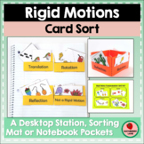 Rigid Motion Transformations Card Sorting Activity Geometry