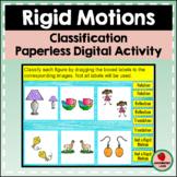Rigid Motion Transformations Digital Classification Google Slides Activity