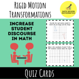 Rigid Motion Transformations Quiz Cards Activity