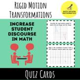 Rigid Motion Transformations Quiz Cards Activity