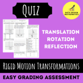 Rigid Motion Transformations Quiz (Reflections, Rotations,