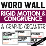 Rigid Motion and Congruence Vocabulary Word Wall and Graphic Organizer