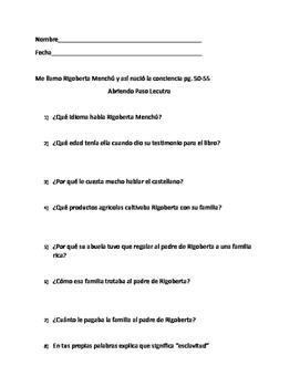 Rigoberta Menchú (Abriendo Paso lectura)