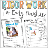 Early Finisher Work Second Grade  |  Pack 2  DISTANCE LEARNING