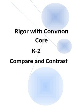 Rigor with Common Core-Compare and Contrast