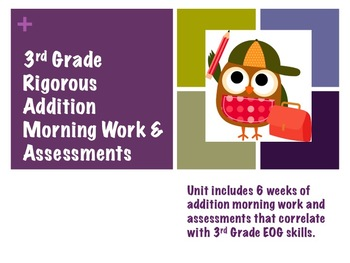 Rigorous 3rd Grade Math Morning Work & Assessments