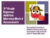 Rigorous 3rd Grade Math Morning Work & Assessments