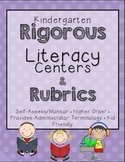Rigorous Centers & Center Rubrics {Kindergarten}