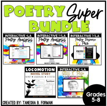 Rigorous Common Core Aligned Poetry Bundle