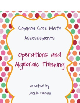 Rigorous Common Core Math Assessments: All Domains and Standards: 1st Grade