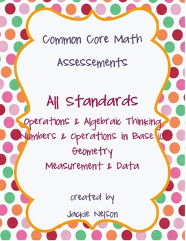 Rigorous Common Core Math Assessments: All Domains and Sta