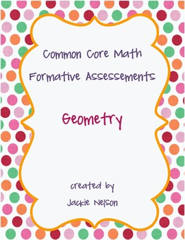 Rigorous Common Core Math Assessments: Geometry: 1st Grade