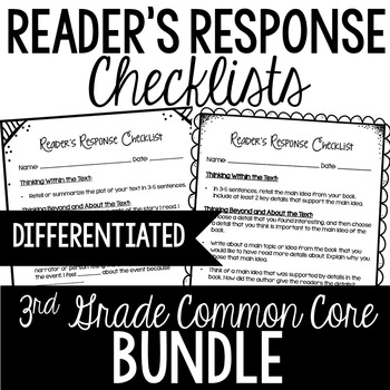 3rd Grade Reader's Response Letters {Bundle: All Standards}