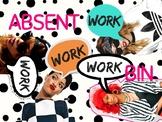 Rihanna Absent Work Bin Sign