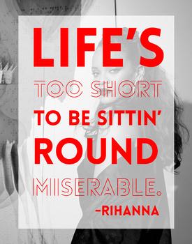 Rihanna Motivational Classroom Poster