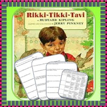 """Rikki-Tikki-Tavi"" 24 questions and movie poster activity"
