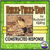 Rikki Tikki Tavi Constructed Response Writing Prompt w/ Rubric & Digital Easel