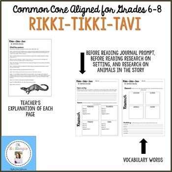 Rikki Tikki Tavi Reading Guide, Writing Activities, and Quiz