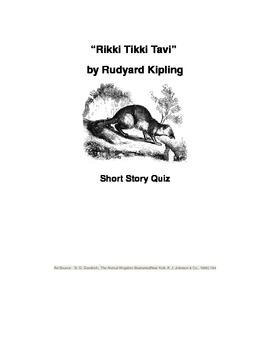 """Rikki Tikki Tavi"" Reading and Vocabulary Quiz"