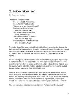 Rikki Tikki Tavi Text and Resources