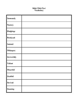 Rikki-Tikki-Tavi (by Rudyard Kipling) Study Guide