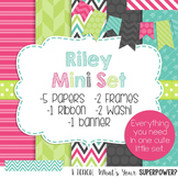 Riley Mini Digital Paper, Frame, and Ribbon Set