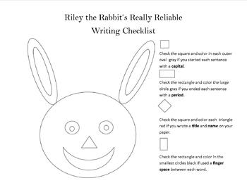 Riley the Rabbit's Writing Checklist