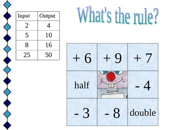 Riley's Input/Output: What's the Rule? (Hidden Picture Game)