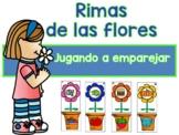 Rimas De Las Flores - Spanish Rhyming Flower Match-Ups