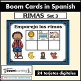 Rimas Spanish Boom Cards Set 3