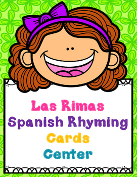 Rimas:  Spanish Rhyming Puzzles Center (Color and Black/White)
