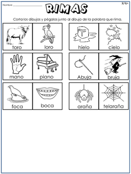 Rimas en Español No.4/ Rhymes in Spanish No.4