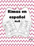 Rimas en Español No.6/Rhymes in Spanish No.6