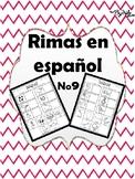 Rimas en Español No.9 / Rhymes in Spanish No.9