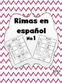 Rimas en Español No.1 / Rhymes in Spanish No.1