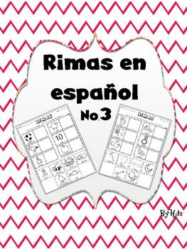 Rimas en Español No.3/ Rhymes in Spanish No.3