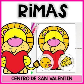 Rimas en español de corazones de San Valentín. Actividad centro Sonido final