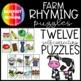 Rimas en la Granja! (Farm Themed Rhyming Puzzles)