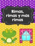 Rimas, rimas y más rimas- Rhymes, rhymes and more rhymes