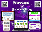 Spanish 465 QR Codes - Rimas y Sonidos, Videos de Rimas - iPad Listening Station