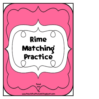 Rime Matching Practice