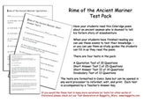 Rime of the Ancient Mariner Poetry Tests By Sections