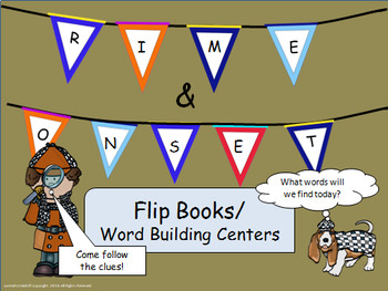CVC Onset & Rime Flip Books/ Word Building Center
