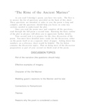 Rime of the Ancient Mariner (Coleridge) study guide / discussion guide