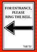Ring Bell for Access SIGN