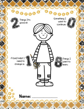 Ring In The New Year-Reflections and Resolutions Worksheets
