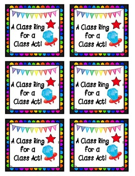 Ring Pop End of Year Class Ring Treat Tag