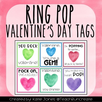 graphic about Printable Pop by Tags called Ring Pop Valentines Working day printable tags