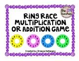 Math Fact Game - Ring Race